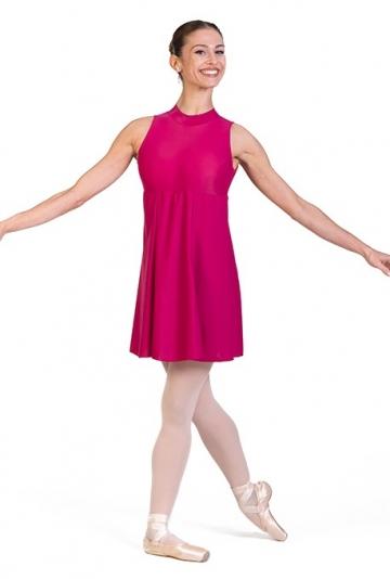 Traje de danza con falda en lycra