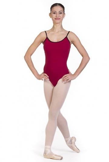 Maillot ballet clásico de tirantes finos