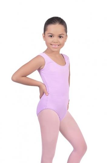 Maillot danza niña sin mangas B409