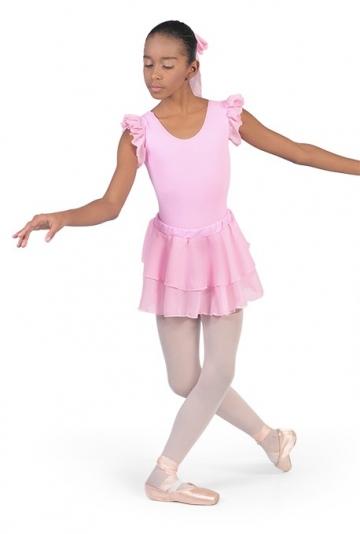 Maillot de ballet con mangas de chifon