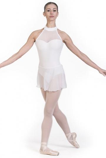Maillot de danza clásica con con falda de gasa