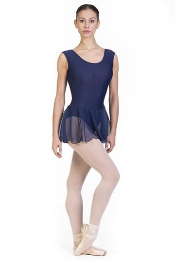 Maillot de ballet con falda de gasa