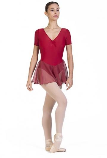 Maillot de ballet clásico con falda en chifon