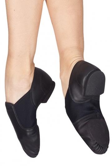 Zapatos de jazz con inserción elastica
