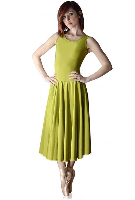 Vestido Danza Con Falda De Vuelo C2542